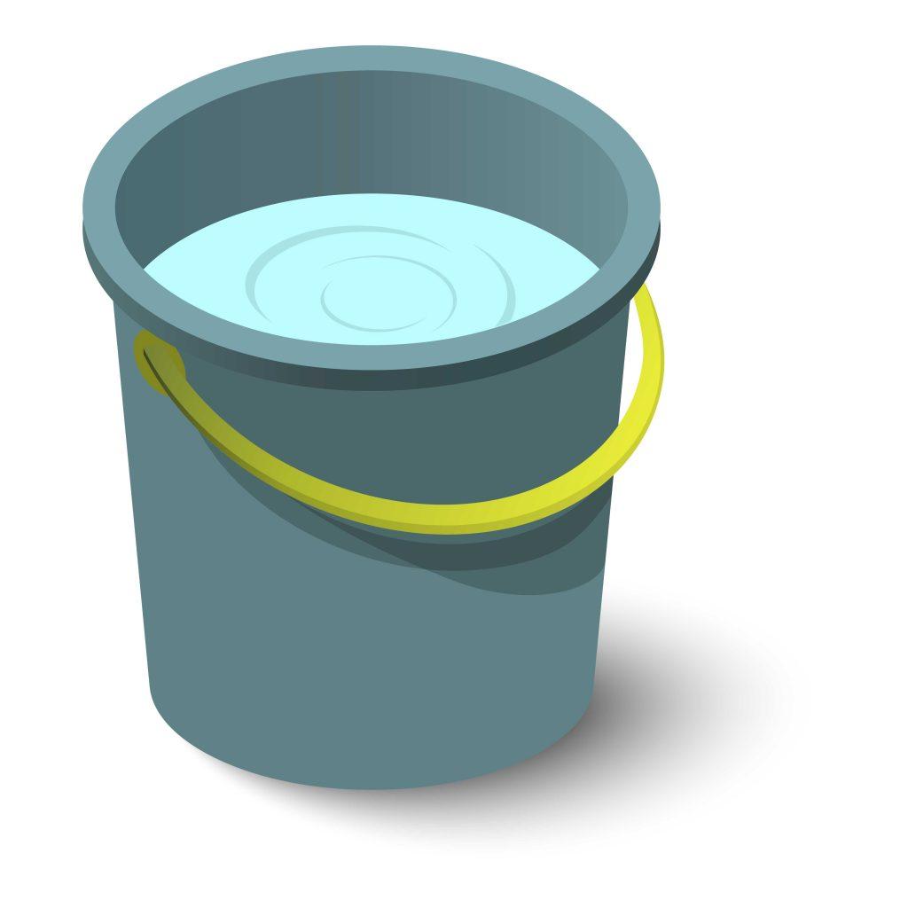 Bucket is half full